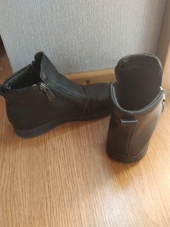 Кожаные демисезонные ботинки р.31