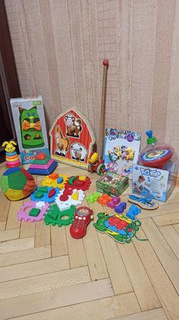 Пирамидка, сортер, каталка, юла, детские игрушки