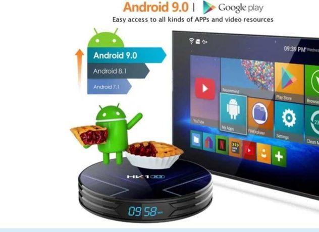 Android9.0 ТВ-приставка, медиаплеер телевизора, тюнер, смарт бокс