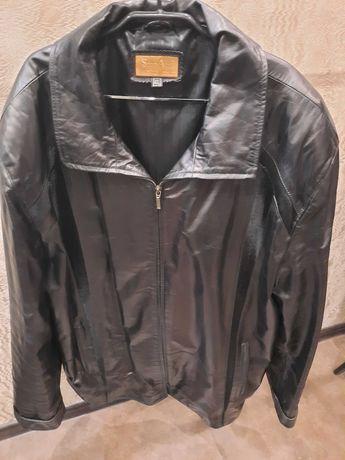 Кожаная куртка пиджак р.4XL демисезон, сост.нового