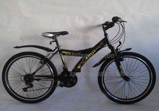 """Велосипед Titan 24"""" Orion черно-желтый - подростковый"""