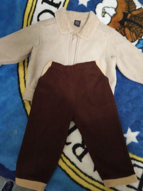 Теплая куртка и штанишки для мальчика 1-1.5года