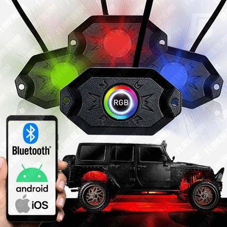 Светодиодная LED RGB подсветка днища салона авто диодная лед Bluetooth
