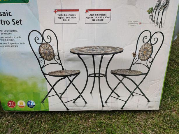 Zestaw stół i krzesła na balkon taras NOWY
