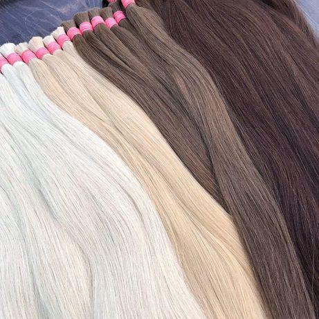 Волосы для наращивания Блонд Славянка Люкс Ассортимент Покупка волос