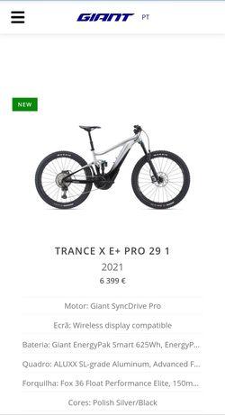 Bicicleta elétrica Giant 2021 nova