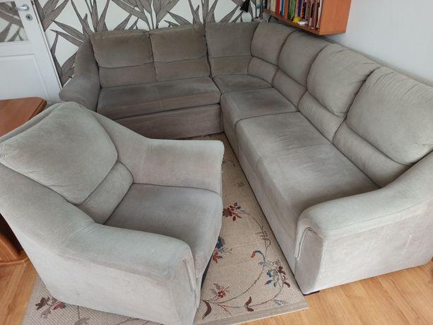 Komplet wypoczynkowy - kanapa narożnik 3+2 + fotel