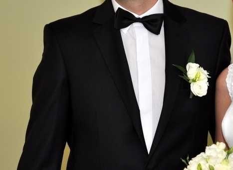 Garnitur męski Recman roz. 194/104 194/94 czarny na ślub wesele