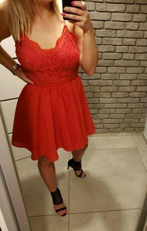 Czerwona sukienka Missquided