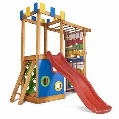 Детская площадка. Горка, качеля, лестница, песочница, домик