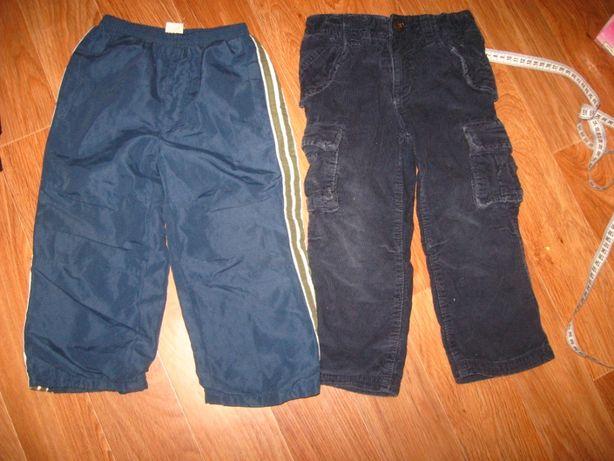 Штаны брюки спортивные и вельвет 3-4 года. Цена за 2
