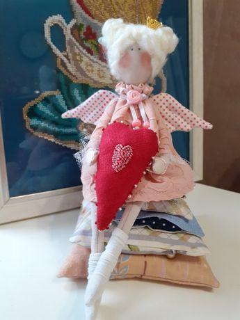 Принцесса  на горошине интерьерная  кукла в стиле Тильда