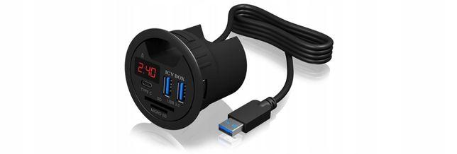 ICYBOX IB-Hub1404 Hub do Biurka 3x USB 3.0 1X TYPE-C, czytnik kart sd