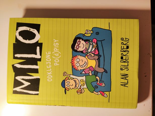 książka dla dzieci MILO odklejone po(d)pisy