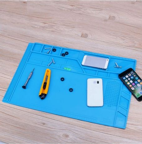 Tapete silicone termoresistente p/ arranjo de dispositivos eletrónicos