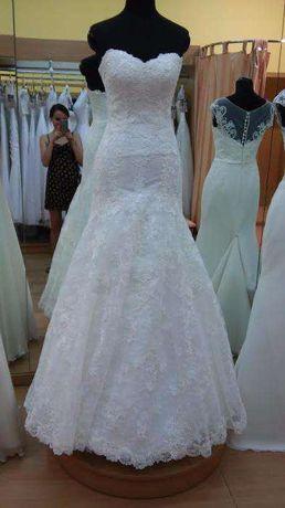 Wyjątkowa, biała suknia ślubna rozm. 36