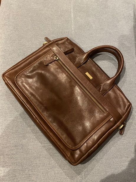 "Nowa torba męska na laptopa 13"" Wittchen, skóra, hand made"