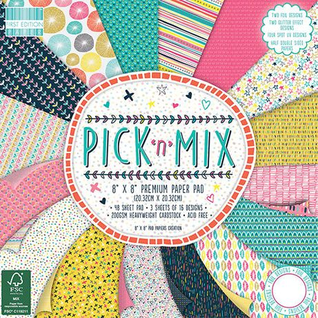 Bloco de papel para Scrapbooking - Pick 'n' Mix