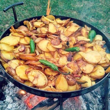Диск-сковорода для пикника+Крышка+Чехол+ножки|Жаровня для природы 30см