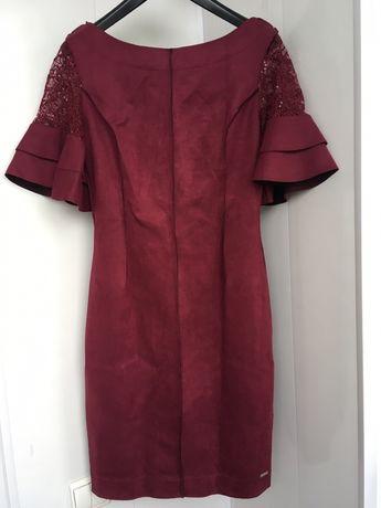 Poliit Italy Италия платье бордовое марсала шнуровка на спине новое