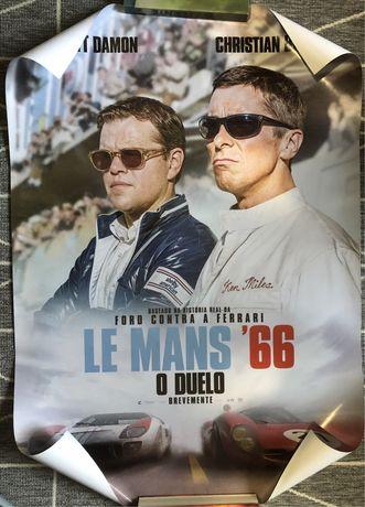 Poster de filmes/jogo - le mans 66, NFS, capitão américa, witcher etc