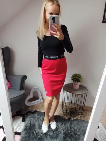 Czerwona dresowa spódnica 4F rozmiar S