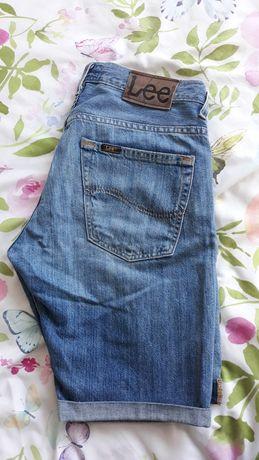 Lee krótkie spodenki  w30 jeans spodnie krótkie