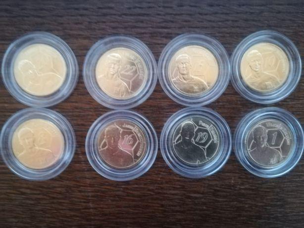 Monety z piłkarzami