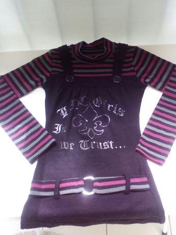 Sweterek bluzka tunika r. 158