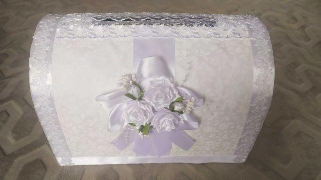 Весільна скринька для грошей.