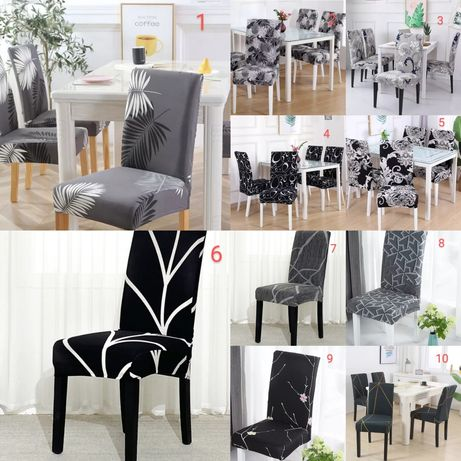 Nowe pokrowce na krzesła 64 wzory do wyboru OKAZJA
