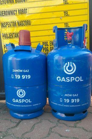 Butla gazowa 11 kg Z GAZEM PEŁNA z kołnierzem lub bez Plomba Kontrolna