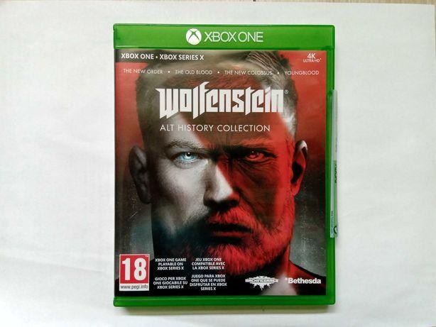 Wolfenstein Alt history Xbox one 4 gry jak Nowa !