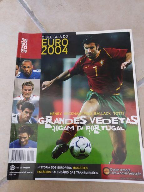 Revista do Euro 2004 - Luís Figo na capa - coleção futebol Portugal