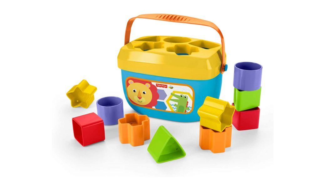 Fisher Price Brinquedo Didático blocos de construção para bebés Novo