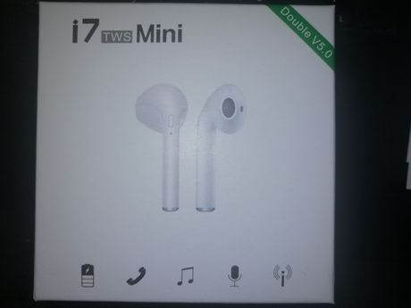 Auriculares Bluetooth I7-Mini TWS Branco