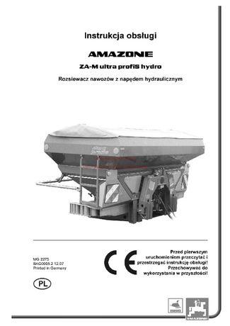 Instrukcja obsługi Rozsiewacz Amazone ZA -M Ultra Hydro