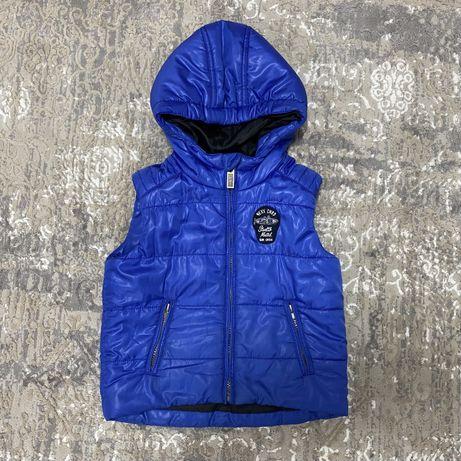 Детская теплая синяя жилетка Mexx для мальчика 98-104 см