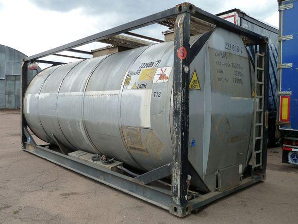 Танк-контейнер VanHool 20 футовый 22 м.куб. паро- и электроподогрев