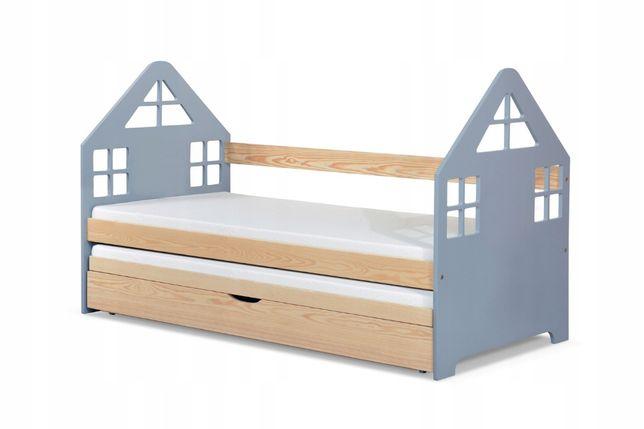 Nowość łóżko Podwójne Domek Materace w Zestawie !
