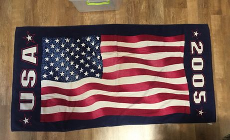 Пляжное полотенце флаг США USA flag