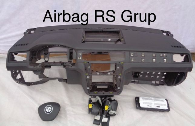 VW CADDY tablier airbags cintos