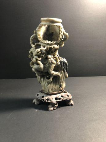 Escultura em pedra de sabão/ Ebano
