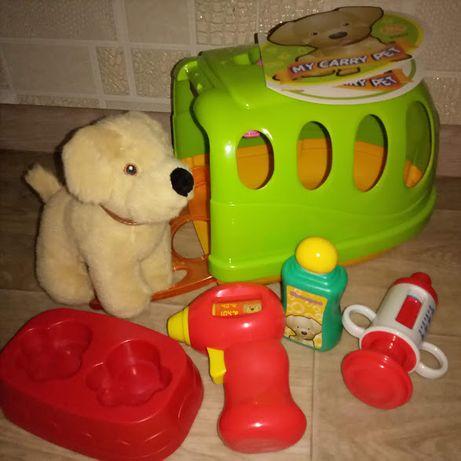 Набор Домик с собачкой и аксессуарами,собака, собачка,мягкая игрушка
