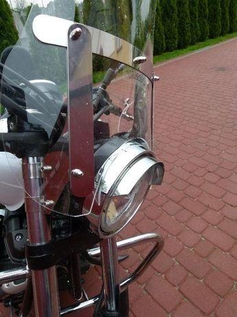 Yamaha XV 950 R Szyba z nierdzewki montaż 4 punkt