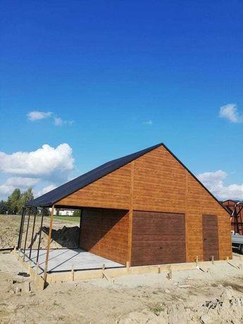 Garaż Blaszany Drewnopodobny Premium 6x6 7x6 7x7 4x6 9x6 12x6 6x5