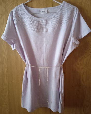 Bluzka lawendowa z krótkim rękawem
