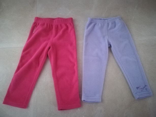 Spodnie polarowe 92/98 2 pary za 8zł