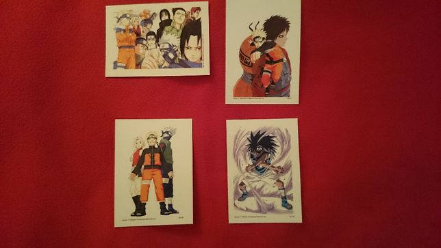Naruto pocztówki kolekcjonerskie manga anime (Sasuke, Sakura, Kakashi)
