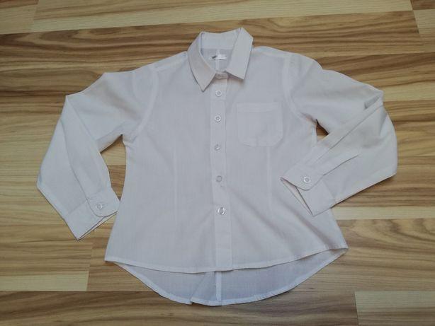 Biała koszula wizytowa długi rękaw 116 cm